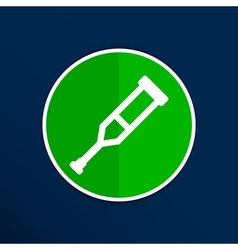 Crutch or crutches icon with flat design element vector image vector image