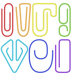 Paperclips set vector image
