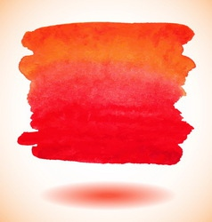 Red isolated watercolor paint banner vector image vector image