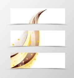 Set of banner swoosh design vector image