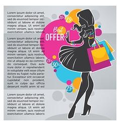shopping banner vector image