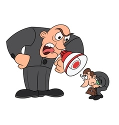 Boss yelling at his worker 4 vector image vector image