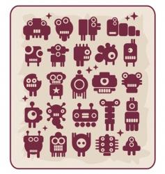 robots monsters vector image vector image