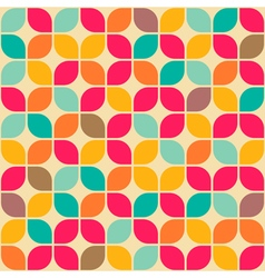 rounded square retro pattern vector image vector image