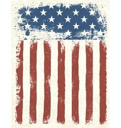 American flag grunge background vector