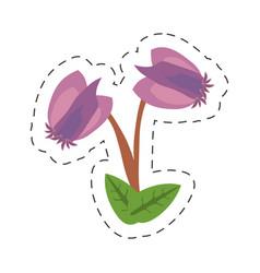cartoon purple flower image icon vector image vector image