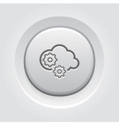 Cloud processing icon vector
