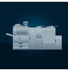 Digital printer vector image