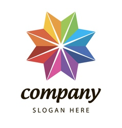 logo spectral flower star vector image