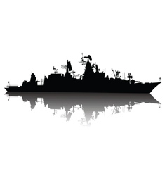 ship silhouette vector image vector image