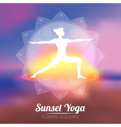 Sunset Yoga Poster vector image vector image