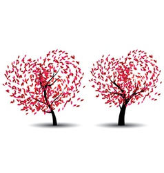 Tree with Abstract Red Leaves vector image
