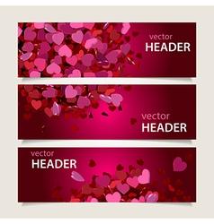 valentine headers set vector image