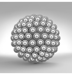 3d Abstract Spheres Composition Technology vector