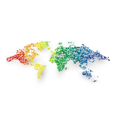 abstract colorful world map dotted graphic design vector image
