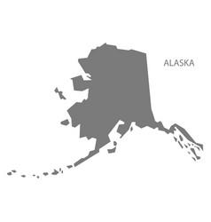 Alaska usa map grey vector