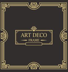 art deco border frame 05 vector image