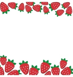 Background of fresh strawberries in flat style vector