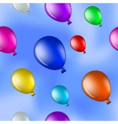 balloons in the blue sky vector image