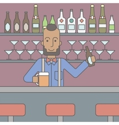 Barman in the pub vector image