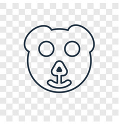 Bear concept linear icon isolated on transparent vector