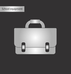 Black and white style icon of school bag backpack vector