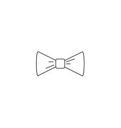 bow tie linear icon vector image