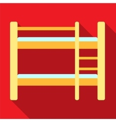 Bunk bed flat icon vector image