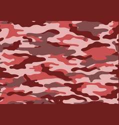 camouflage pattern background red pink style vector image