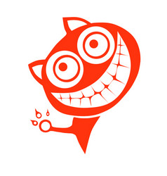 Cheshire cat vector