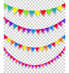 Color flag strings clipart isolated on vector