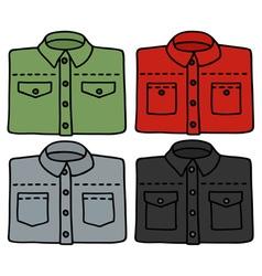 Color shirts vector