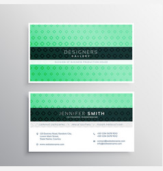 corporate business card template in green color vector image