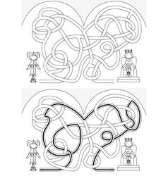 Court maze vector image