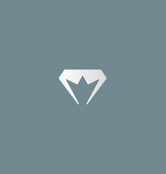 Diamond crown logotype gem king royal logo vector