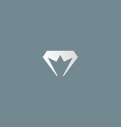 diamond crown logotype gem king royal logo vector image