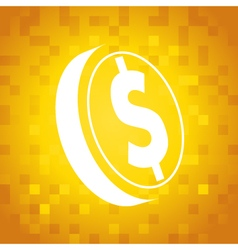 Dollar Coin Symbol vector image