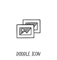Doodle icon with some pictures vector