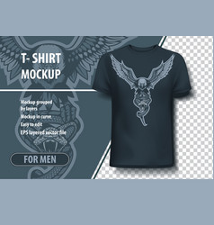 eagle with snake in claws t-shirt template vector image
