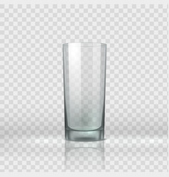 Empty glass realistic clear drink container vector