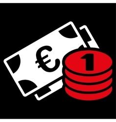 Euro money icon from BiColor Euro Banking Set vector