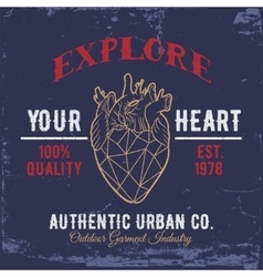 Explore Your HeartPrint for shirts vector image