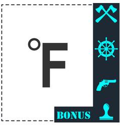 fahrenheit icon flat vector image