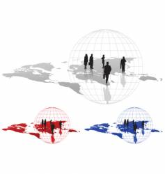figures on map vector image