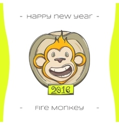 Fire Monkey Three vector image