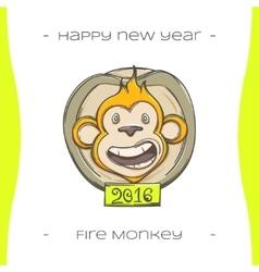 Fire Monkey Three vector image