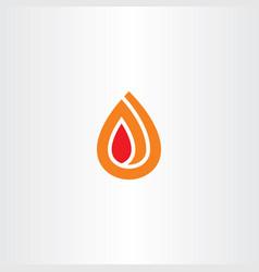 fire spiral logo icon flame symbol vector image