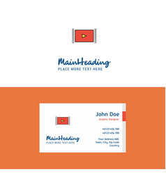 flat video logo and visiting card template vector image