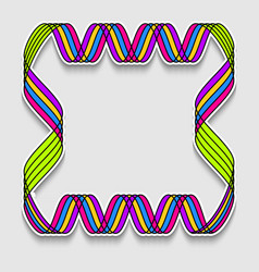 fun square frame in form of rainbow mosaic tape vector image