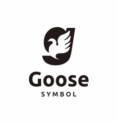 G initial letter goose logo icon vector